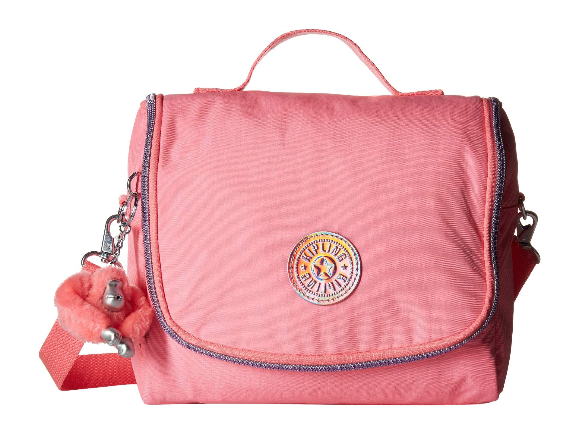 Kipling Kichirou Insulated Lunch Bag, Removable, Adjustable Crossbody Strap, Zip Closure, Conversation Heart