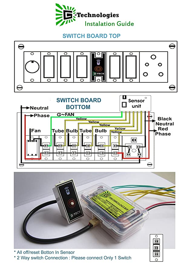 Wireless Remote Operated Electrical Switch Modular Type for 5 Light ...