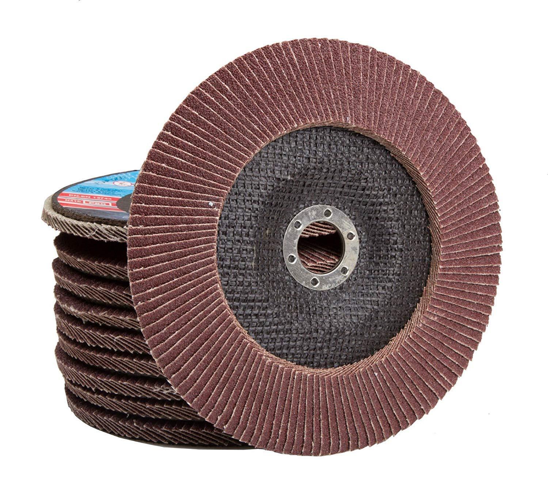Flat Sanding Grinding AU014 50 x Flap Discs 80 Grit Angle Grinder 4.5 115mm