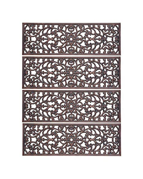 Delicieux Decorative Rubber Stair Treads Antique Copper Scroll 30u0026quot; ...