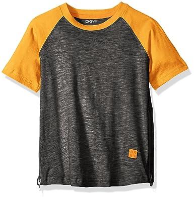 0383af51e8c1 DKNY Boys' Short Sleeve T-Shirt,: Amazon.co.uk: Clothing
