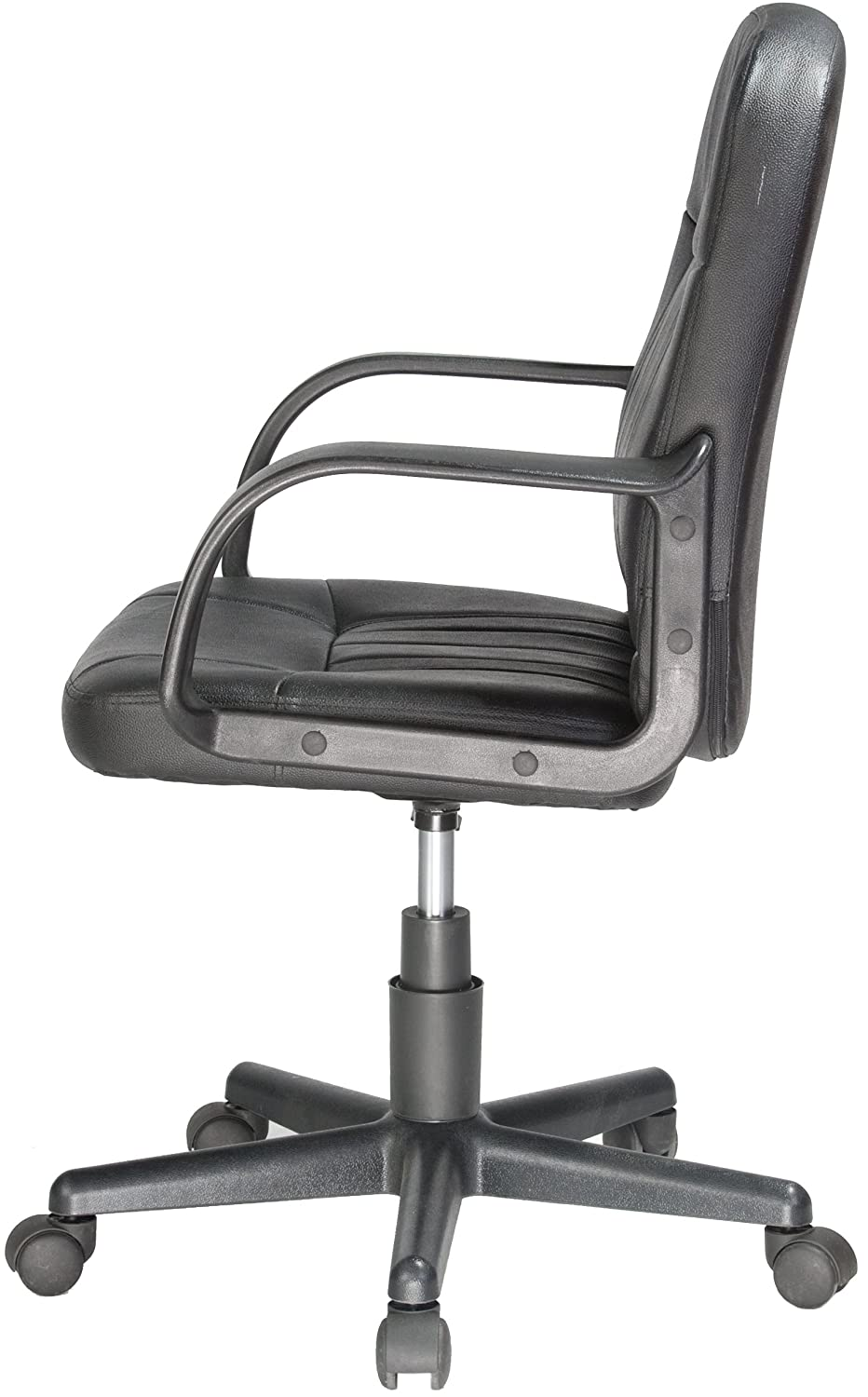 amazoncom comfort products 605607m midback leather office chair black kitchen u0026 dining - Leather Office Chairs