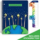 "Dated Elementary Student Planner for Academic Year 2018-2019 (Matrix Style - 8.5""x11"" - (Reach for The Stars Cover) - Bonus Ruler/Bookmark and Planning Stickers"