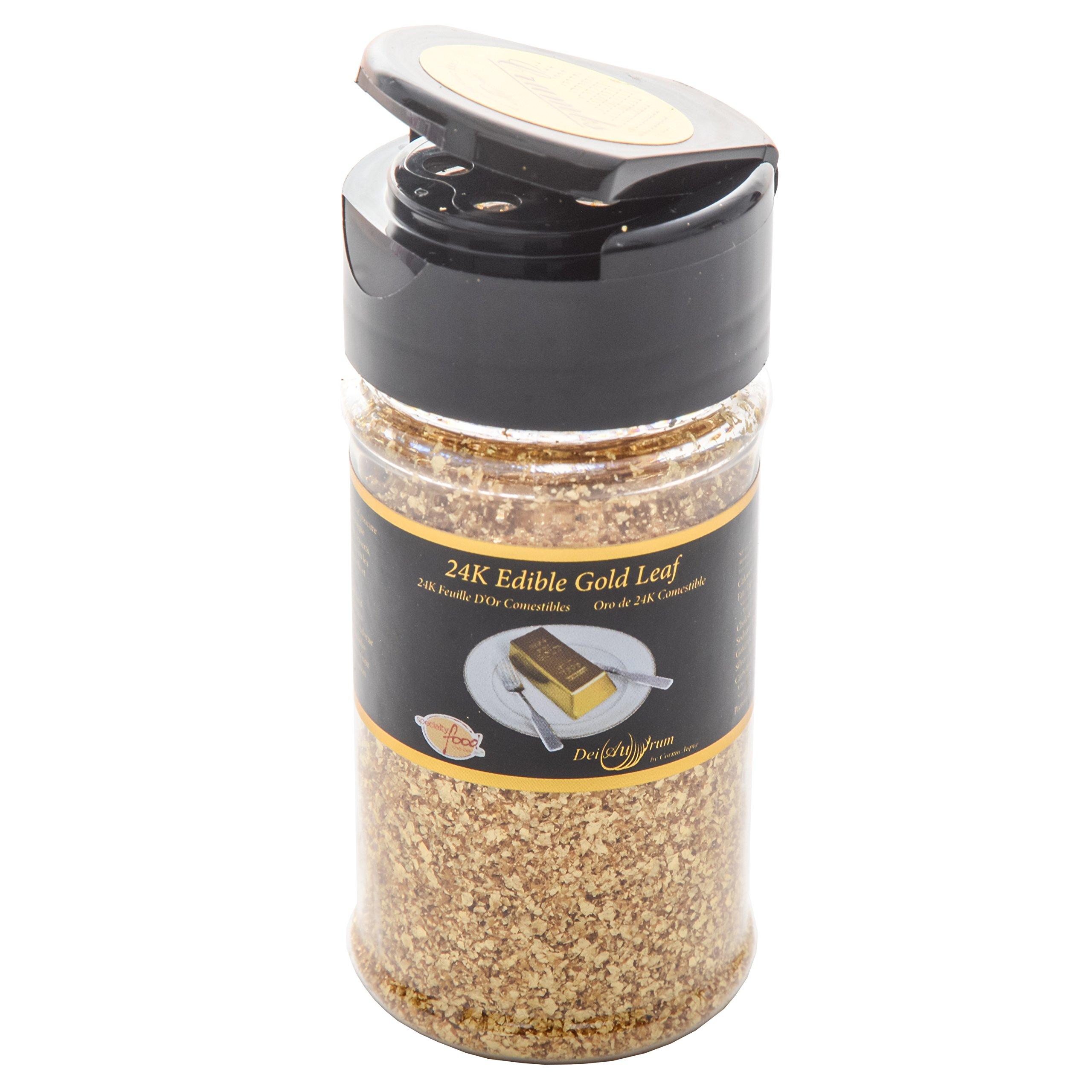 24K Edible Gold Leaf Crumbs, Shaker, 1g
