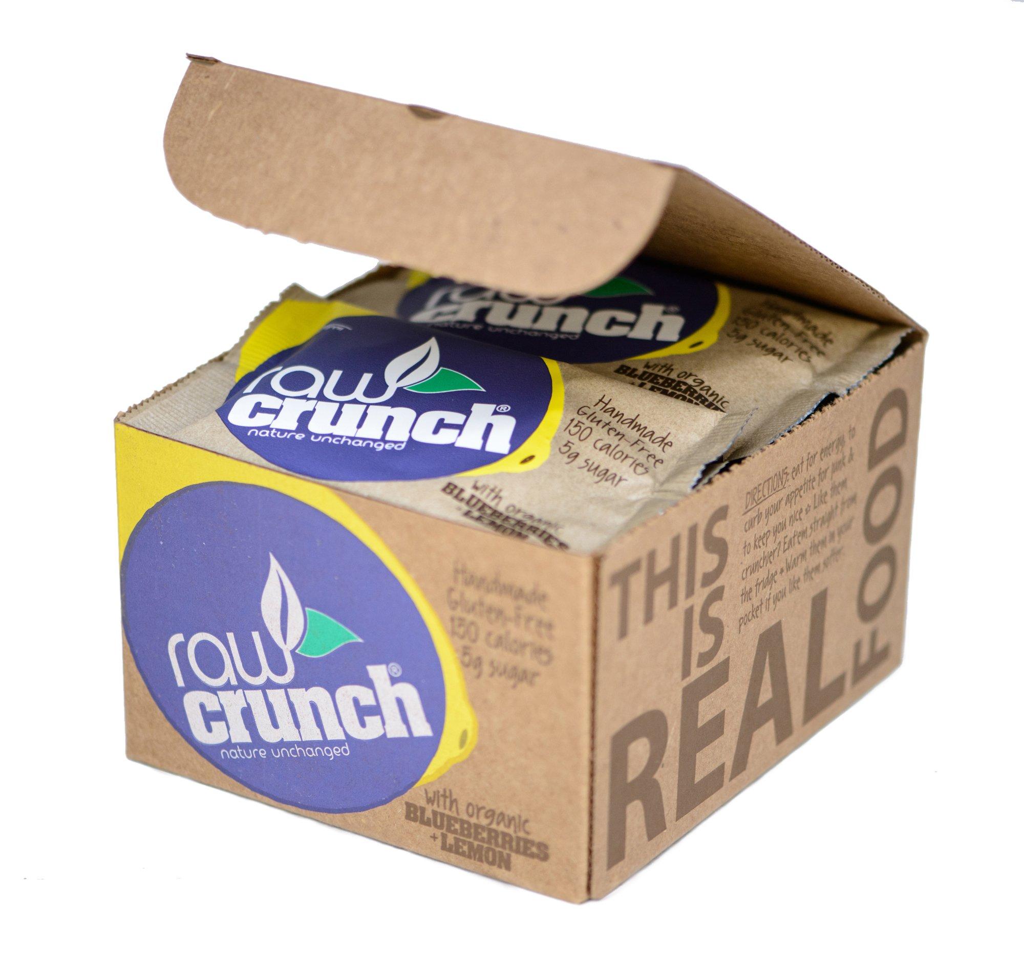 Raw Crunch Bars - Organic Blueberry Lemon - Box of 12 Bars by Raw Crunch