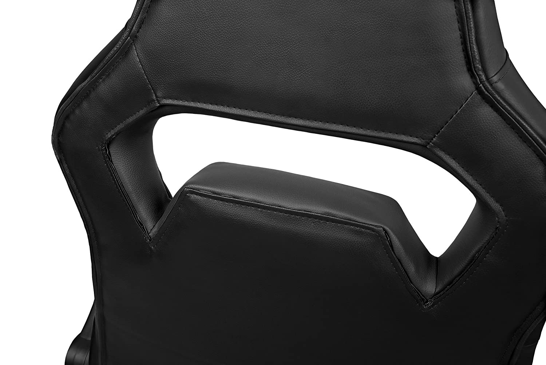 66 x 53 x 115-123 cm Drift DR75 Negro Silla de gaming de piel sint/ética