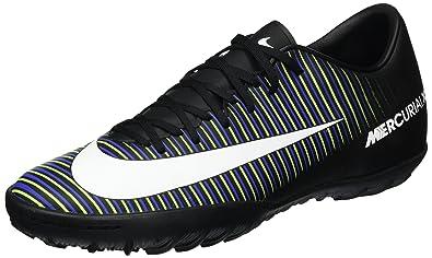 sale retailer 5946c ef181 Nike Mens MercurialX Victory VI TF Black Football Shoes (6 ...