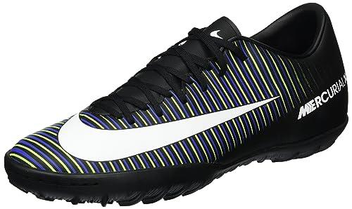 watch 3ac36 65a16 NIKE New Men s MercurialX Victory VI TF Soccer Shoe Black Electric Green 7