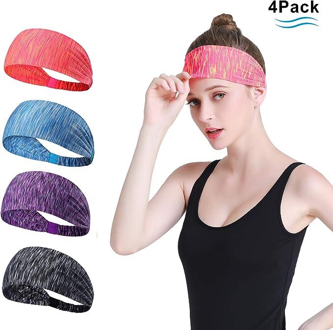 Sykooria Sport Stirnband Anti Rutsch Schwei/ßband Kopfband elastische atmungsaktive Haarb/änder zum Fitness Yoga Gym Laufen Wandern Joggen f/ür M/änner und Frauen