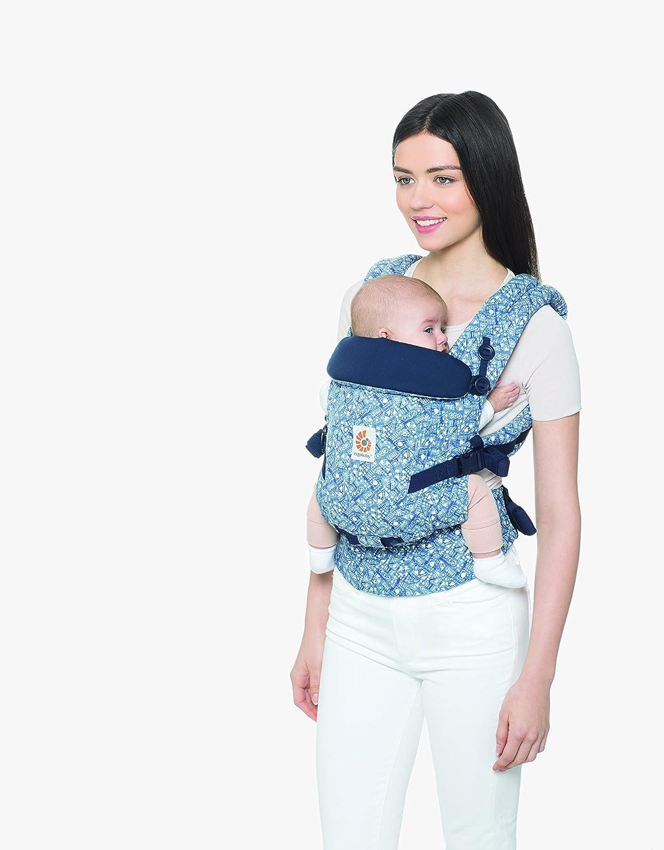 Ergobaby Batik Indigo 3-Posiciones Azul Mochila Portabebes Ergonomico para Recien Nacido