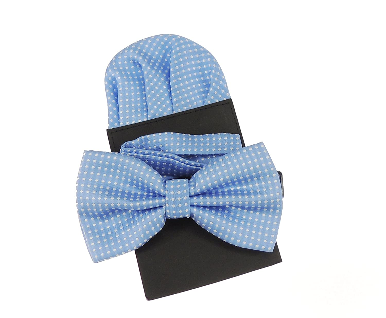 para novio dise/ño fino de lunares conjunto en m/ás de 20/colores Pajarita y cuadrado de bolsillo de lujo para boda