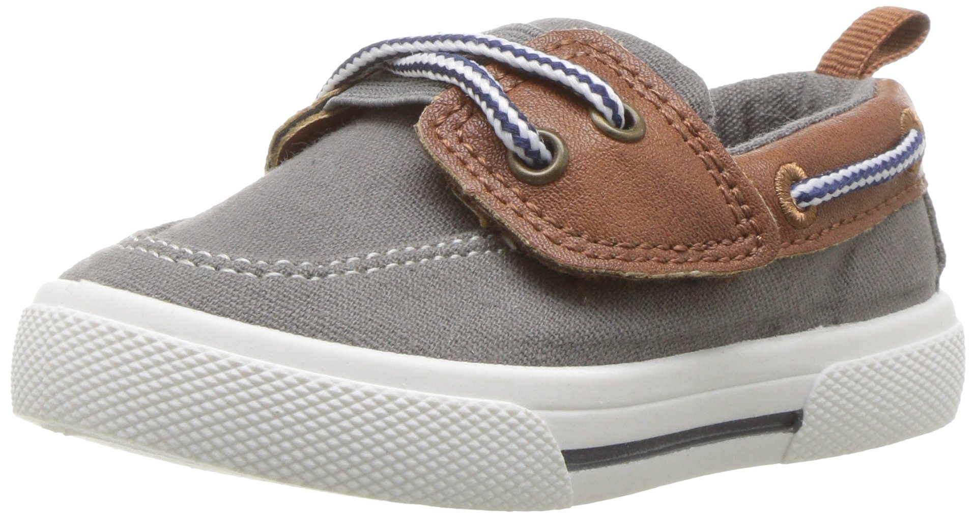carter's Boy's Cosmo Casual Slip-on Sneaker, Grey, 7 M US Toddler