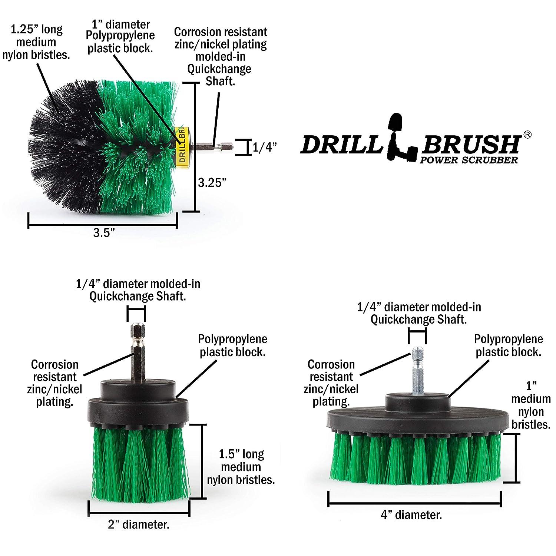 Drill Brush Attachment Set Brush for Drill Drill Brush Rims Drill Scrubber Attachment Power Scrubber Brush Bathtub Cleaner Carpet Drill Brush Brush Scrubber Grout Brush Drill Brush