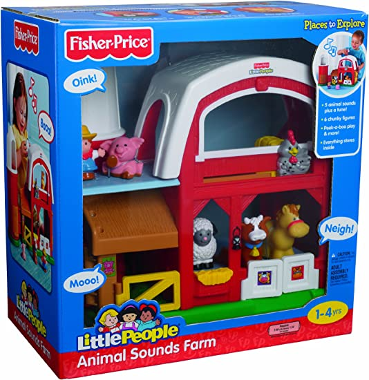 Amazon Com Fisher Price Little People Animal Sounds Farm Toys Games