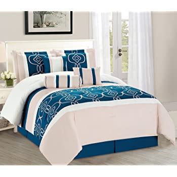 Amazon Com Wpm 7 Pieces Complete Bedding Ensemble