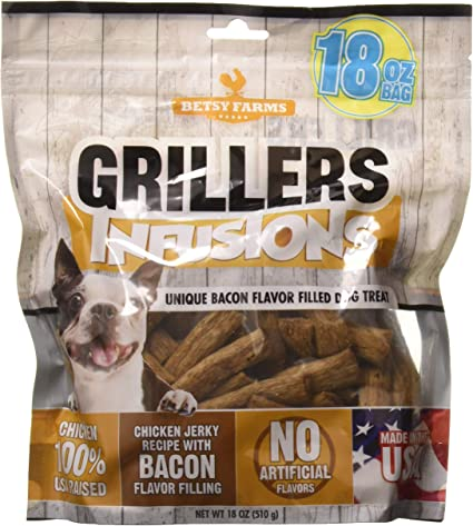 Betsy Farms Chicken Infusions Dog Jerky Treats With Bacon Filling 18 Oz Chicken Jerky Treats For Dogs