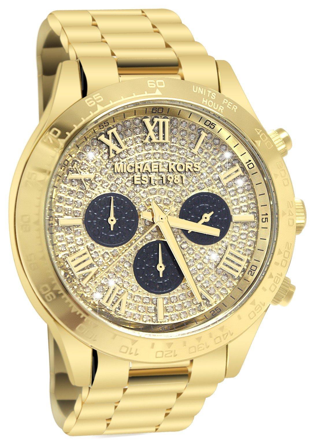 Layton Gold Tone Glitz Chronograph Watch