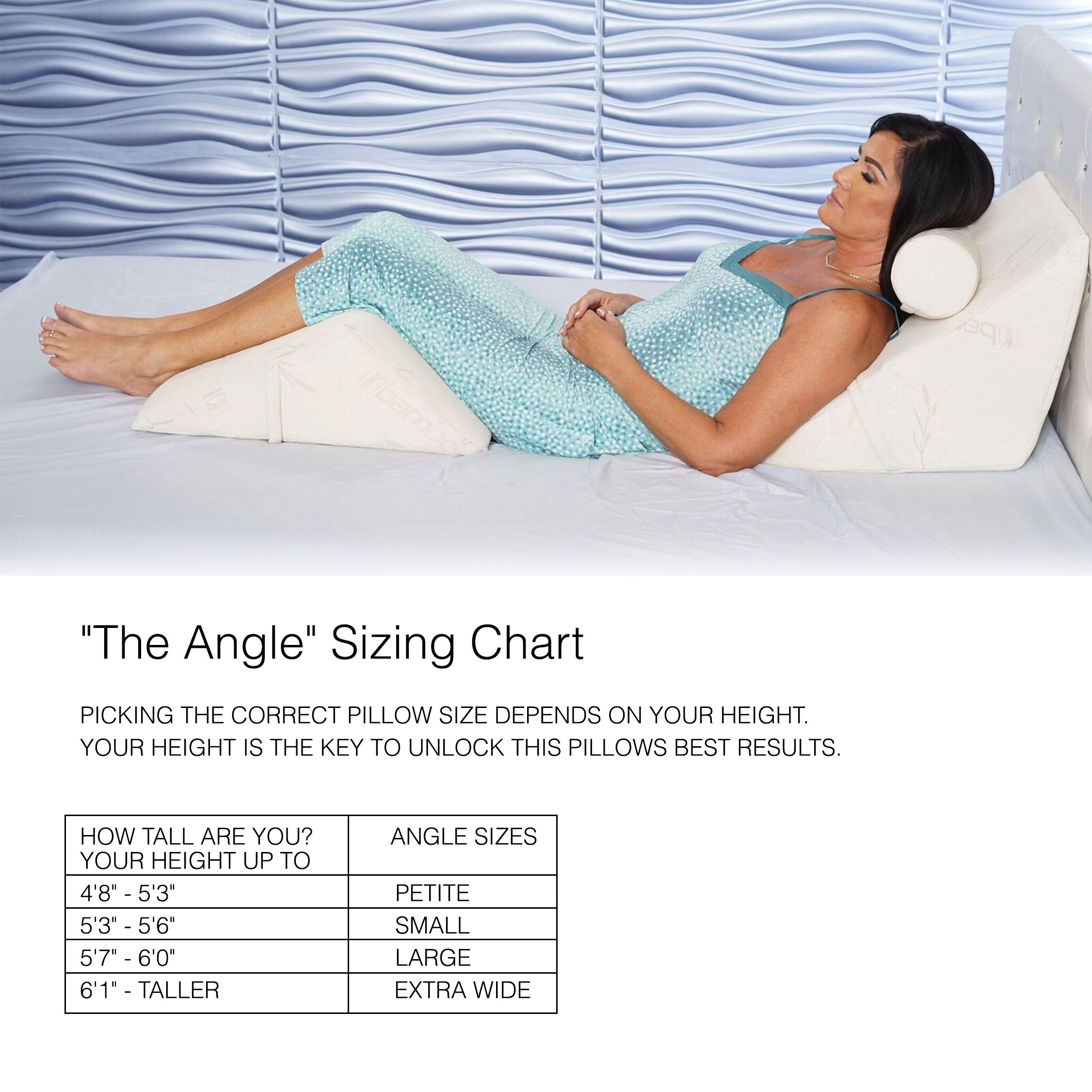 ''The Angle'' 3 piece Body Support - w/ Large Angle, Help Reduce Back Pain Immediately! Over 1 Million Happy Backs. Therapy Wedge, Extra Plush Memory Foam, Made in USA, provides back and neck relief