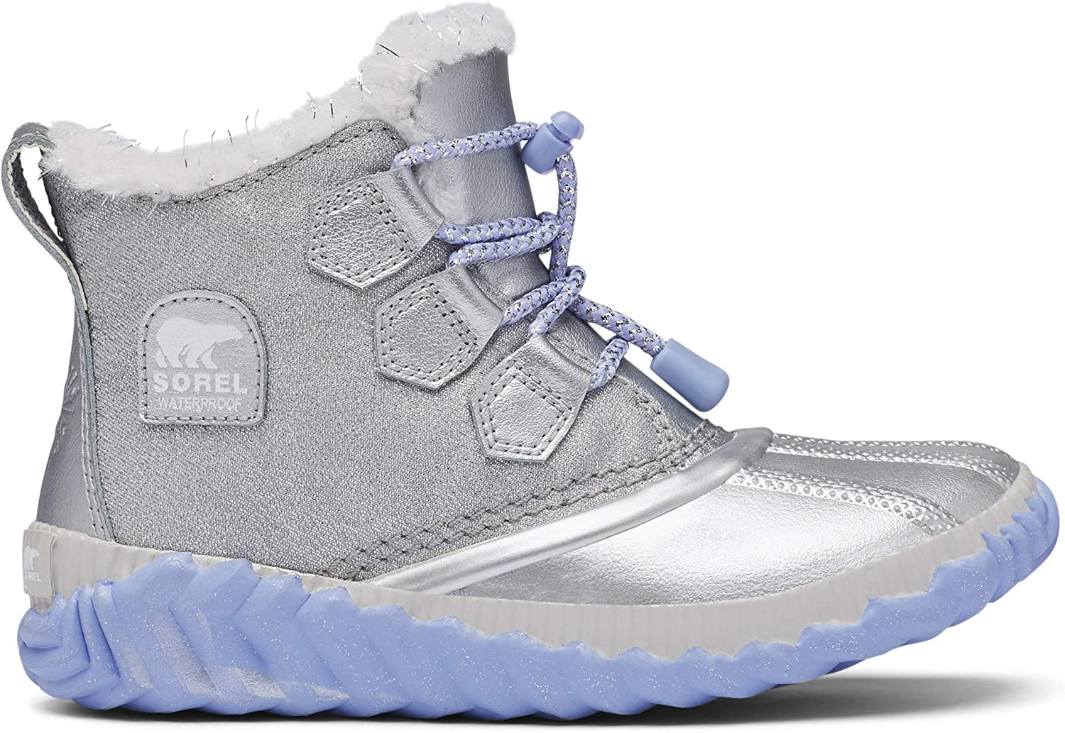 Sorel Pure Silver Disney Frozen 2 Kids Out /'N About Winter Boot