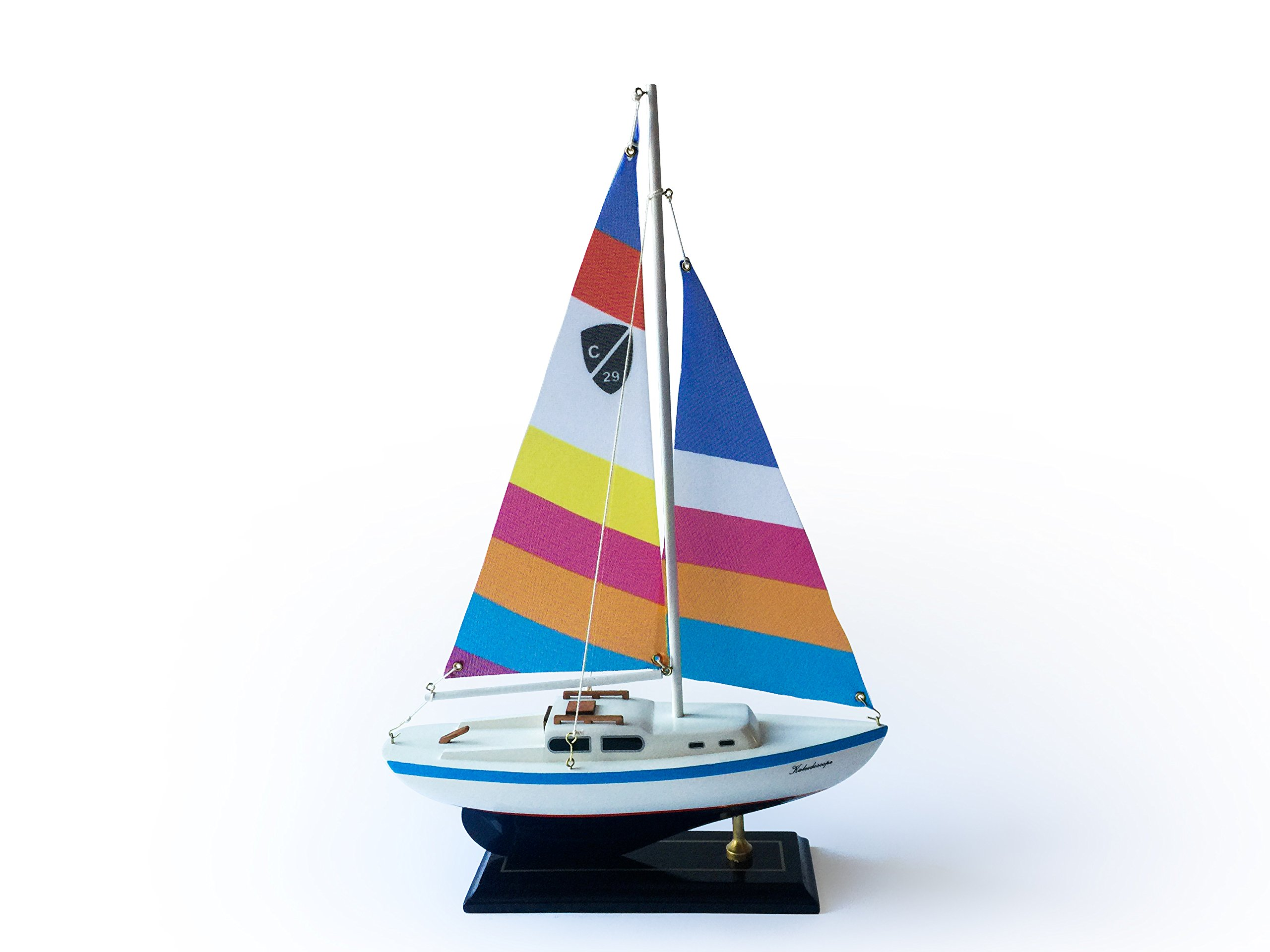 Columbia Wooden Nautical Sailboat Ship Model 16''-2