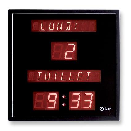 Orium 11561 Horloge à date digitale PlastiqueVerre Noir 28 x 28 x 4,2 cm