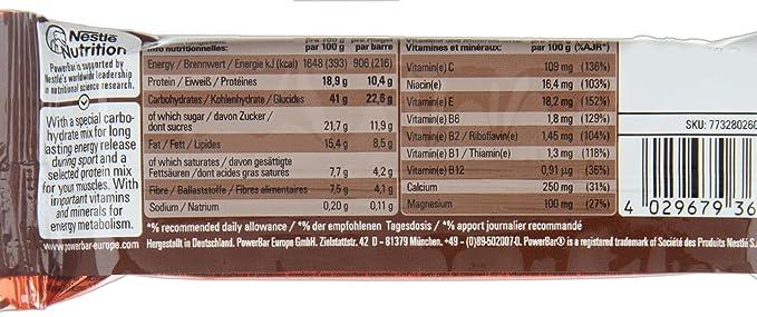 PowerBar Ride - Nutrición deportiva - Chocolate-Caramel 18 x 55g amarillo/rojo 2018: Amazon.es: Salud y cuidado personal
