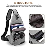 Canvas Sling BackPack Outdoor Sports Chest Bag