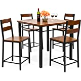 Amazon Com Best Choice Products 5 Piece Kitchen Dining Table Set W