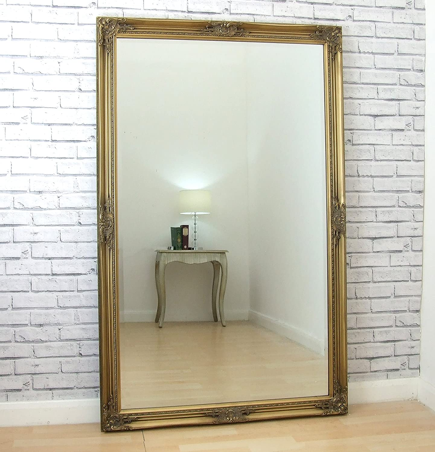 wooden vintage carved truly gold mirrors features a oak on dusxfurnishings mirror white softly border pin cushion leaves reflecting best gilt style painted stylish images floors luxuriant standing floor
