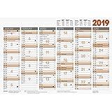 2019 Brunnen Tafelkalender A4 mitNamenstagen Kalender, Planer & Organizer