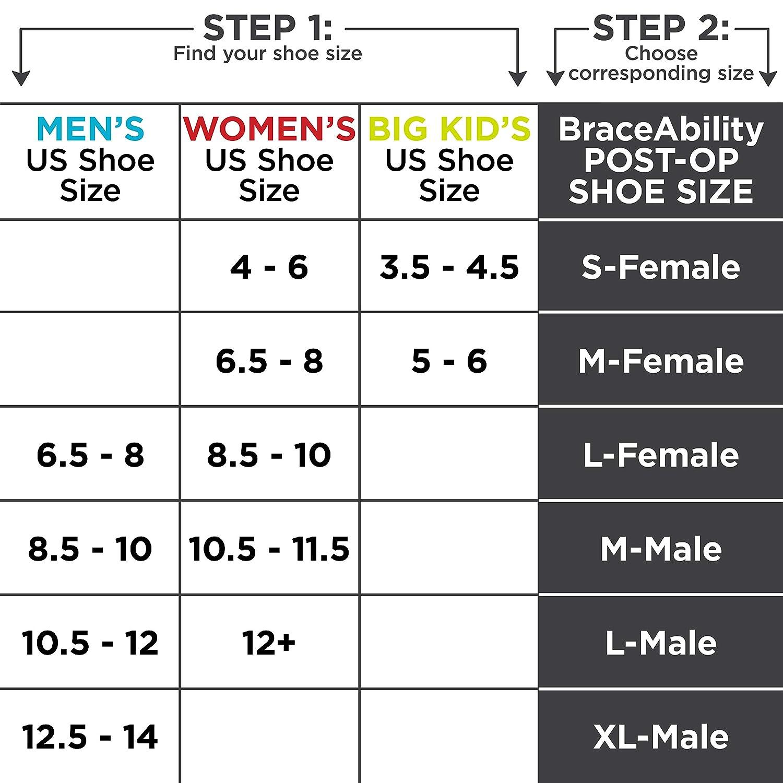 BraceAbility Post-op Shoe for Broken Foot or Toe | Medical