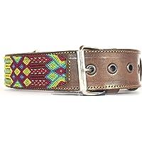 G Collar artesanal grande para perro hecho en Chiapas, México