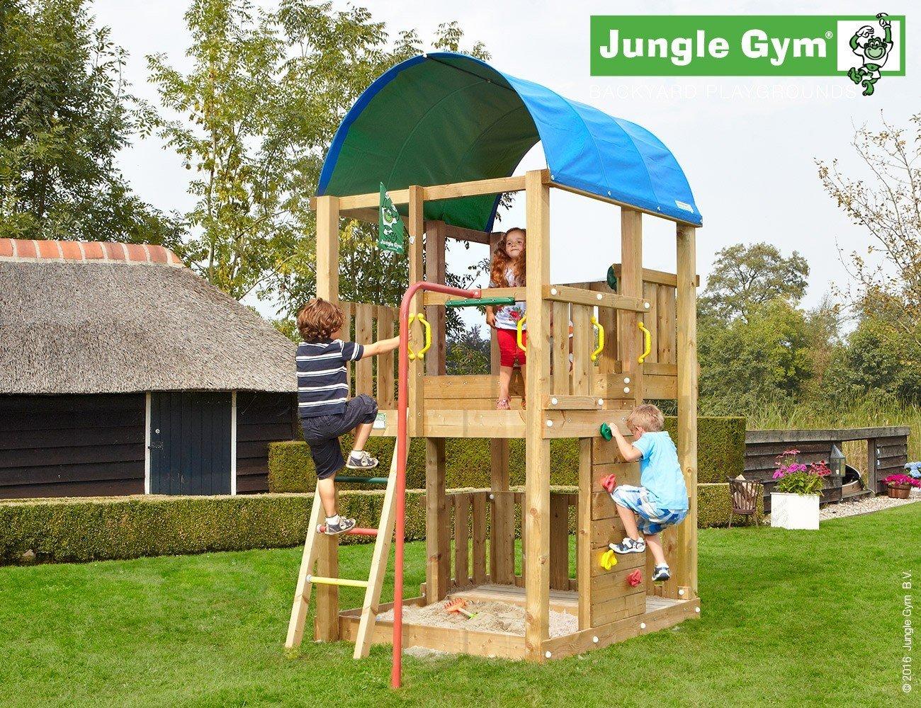 JUNGLE GYM Spielturm Jungle Farm mit Rutschstange, Gesamtmaße (B/T/H): 160/360/320 cm