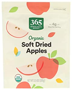365 by Whole Food Market, Organic Dried Fruit, Soft Dried Apples, 3.5 Ounce