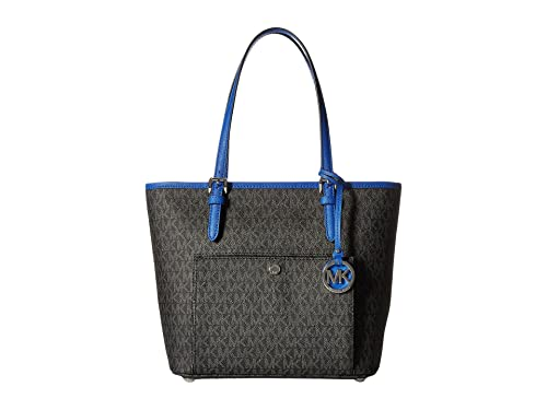 24bd53024d33 MICHAEL MICHAEL KORS Jet Set Travel Medium Canvas   Leather Tote ...