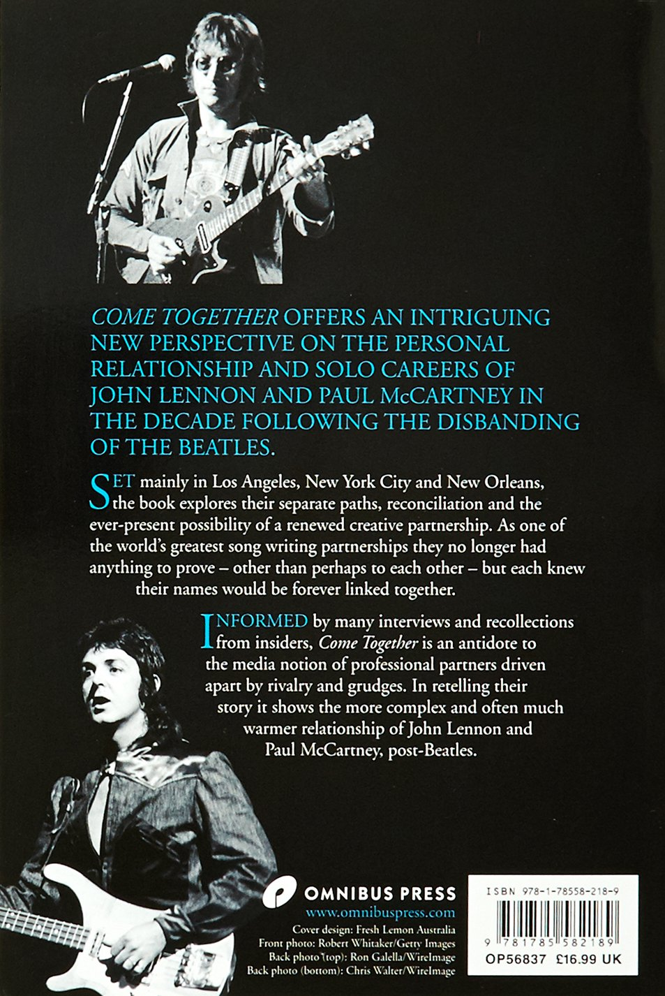 Come Together: Lennon & Mccartney In The Seventies: Richard White:  9781785582189: Amazon: Books