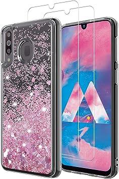 MASCHERI Funda para Samsung Galaxy M30 Funda y Cristal Templado [2 ...