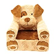 Sweet Seats 49227 Brown Dog Children's Chair, Large Size, Machine Washable Cover, One Size, Tan