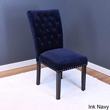 Charmant Monsoon Markelo Tufted Velvet Dining Chairs (Set Of 2) Dark Blue