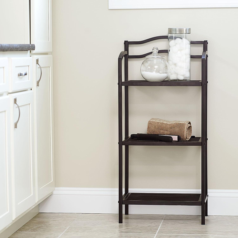 freestanding and h unit shelf tier w bathroom l gamme corner metal x bamboo