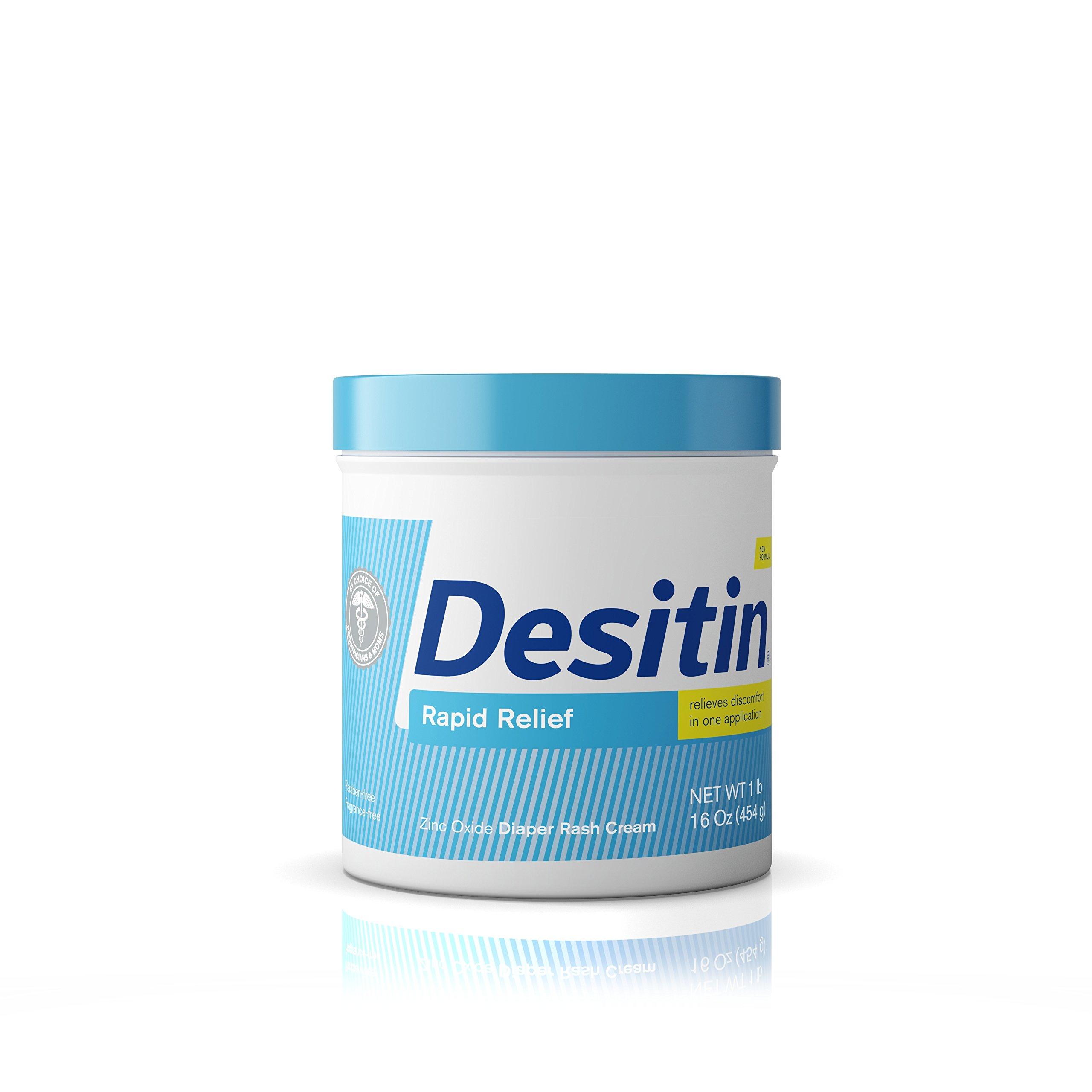 Desitin Rapid Relief Diaper Rash Remedy, Fragrance-Free Cream, 16 Oz