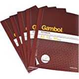 KOKUYO 国誉 Gambol系列渡边G560SK A5 60页 无线装订易撕方格本 记事本 5本装