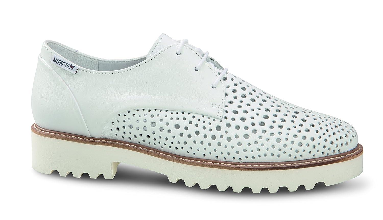 Mephisto Zapatos de Cordones de Piel Lisa Mujer 35.5 EU|blanco