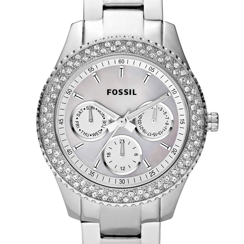 55490415d9dd Fossil Reloj Analógico para Mujer de Cuarzo con Correa en Acero Inoxidable  ES2860  Amazon.es  Relojes