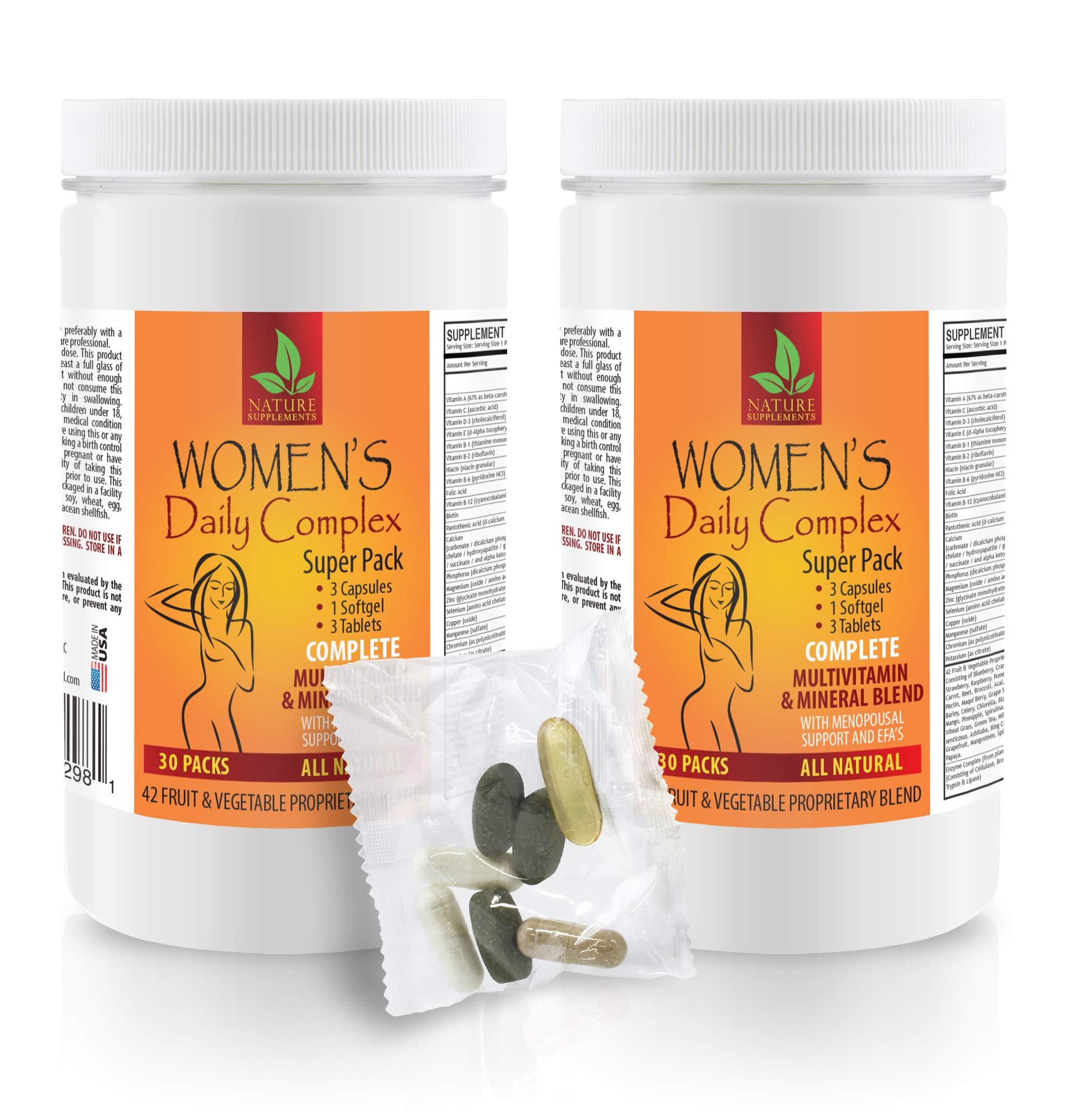 Female Enhancement Supplement - Women's Daily Complex Super Pack - All Natural - zinc Supplement for Women - 2 Cans 60 Packs (420 Pills)