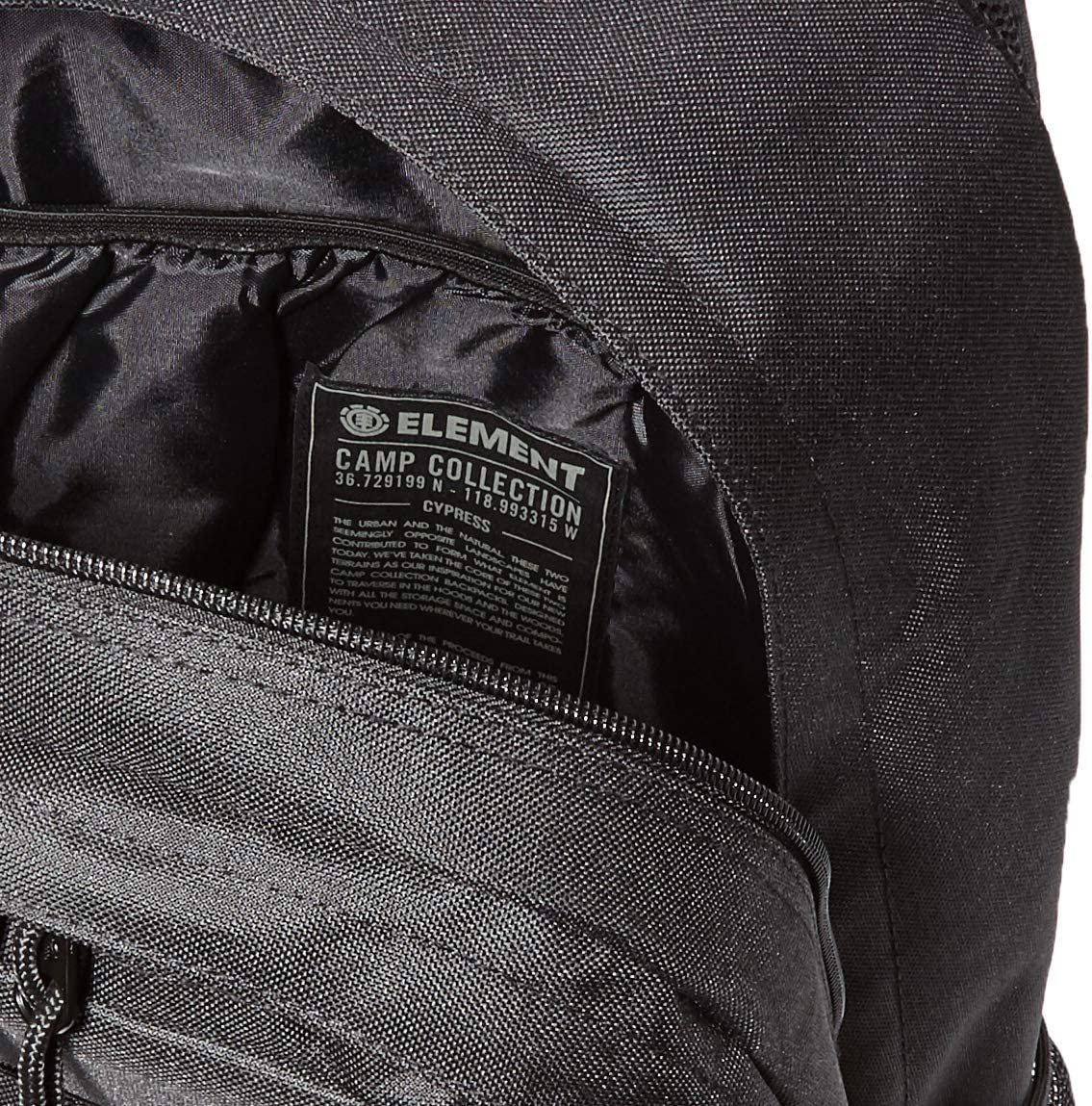 Element Leisure Backpack Cypress 15 Saison 2018//19 Camp Collection Polyester