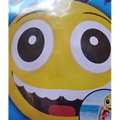 "Greenbrier International Two Splash-n-Swim 20"" Emoji Beach Balls - Broad Smile and Hearts for Eyes: Toys & Games"
