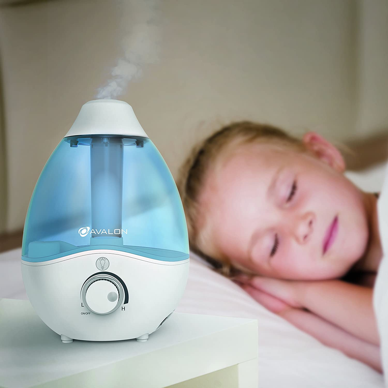 Avalon Premium Cool Mist Humidifier with Aromatherapy Essential Oil Drop Diffuser, with Adjustable LED Night Light, Ultrasonic Pure Silent Technology,