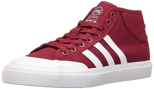 adidas Originals Mens Shoes  Matchcourt Mid Fashion Sneakers Collegiate  BurgundyWhiteWhite
