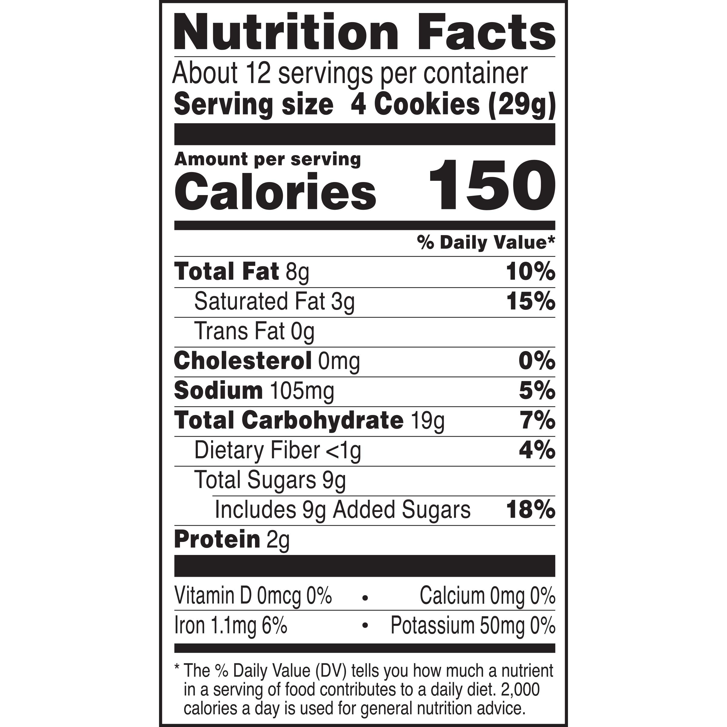 Famous Amos Chocolate Chip and Pecans Bite Size Cookies, 12.4 Ounce (Pack of 9)